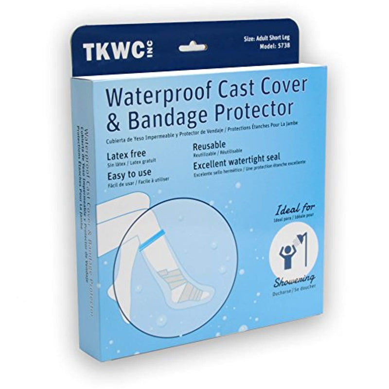 Water Proof Leg Cast Cover for Shower by TKWC Inc -