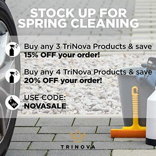 TriNova Tire Shine Gallon Size - Leaves Brilliant Wet Looking Shine, Perfect for Detailer. Best Dressing for Slick Finish on Tires, Rubber, Wheels. Bulk gal 128oz