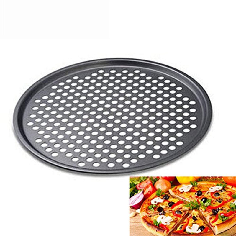 "Olivia & Aiden 13"" Vented Pizza Pan (3-Pack) Round, Perforated Air Baking 