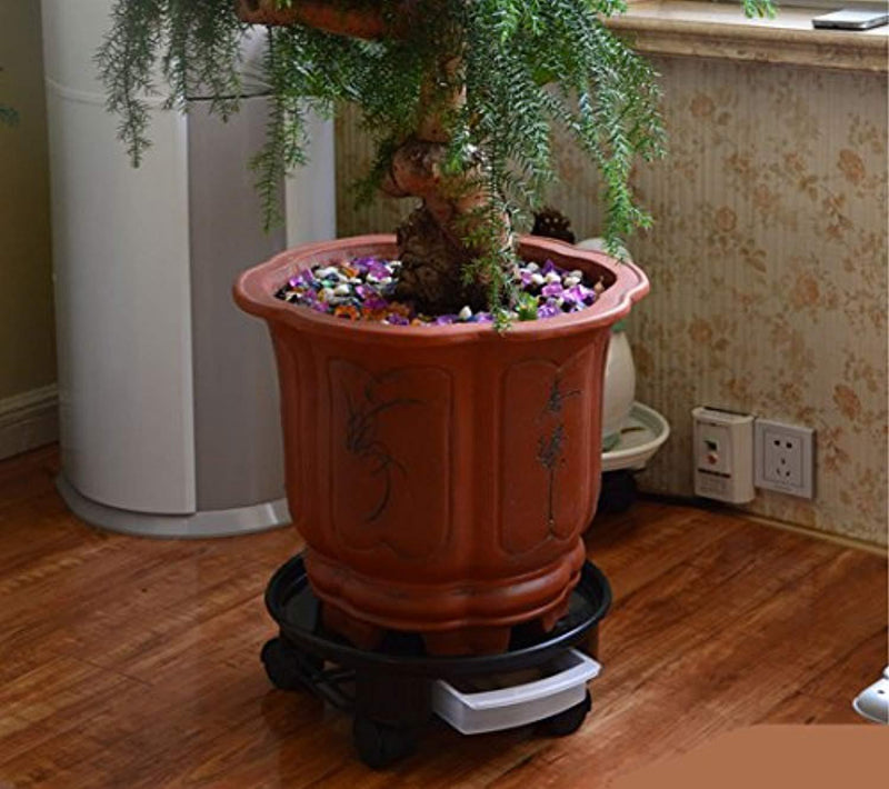 "TRUEDAYS 16"" Plant Saucer Caddy Pot, Plant Dolly with Wheel Roller Moving Tray Pallet"