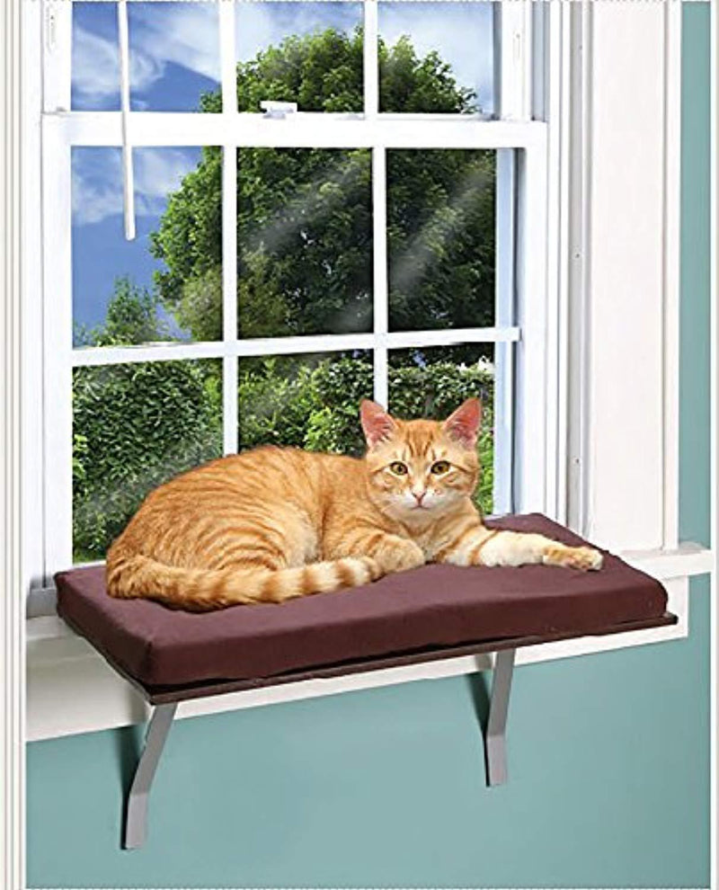 Foam Cushion Deluxe Kitty Window Perch With Fleece Cover