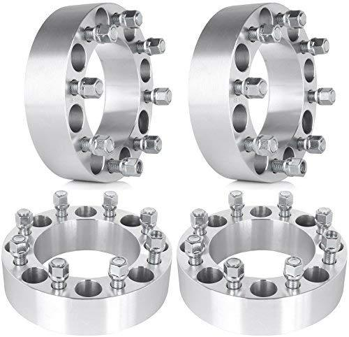 "ECCPP Replacement Parts of 8 Lug 50mm Wheel Spacers 8x6.5 to 8x6.5 2 inch 8x165.1 to 8x165.1 Fits for Ram 2500 3500 Ford F-250 Ford F-350 9/16"" Studs(4X)"