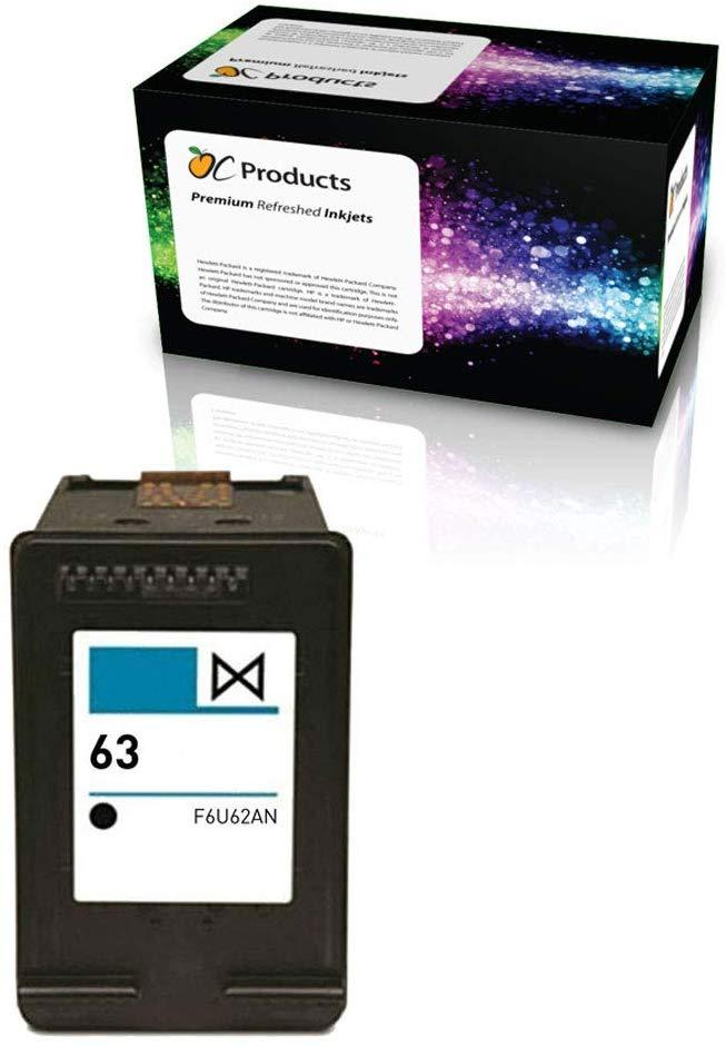 OCProducts Remanufactured Ink Cartridge Replacement for HP 63 for Deskjet 2130 2132 3630 3632 3634 1110 Envy 4520 Officejet 3830 Printers (1 Black)