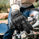Powersports Motorcycle Gloves by Indie Ridge, Lightweight Carbon Fiber Racing Gloves with Mobile Touch Screen Fingertips (Small)