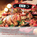 A ALPS Oven Safe Leave in Meat Thermometer, Dual Probe Instant Read Food Meat Thermometer Digital with Alarm Function for Cooking, BBQ, Smoker and Grill (Black)