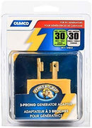 Camco Heavy Duty RV Auto PowerGrip Adapter- Contoured Shape For Easy Grip and Removal (15M, 30 Amp, 125 V, 1875 W) (55223)