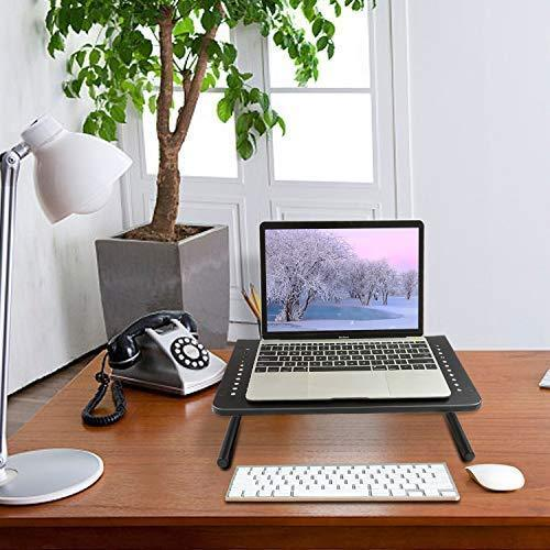 Monitor Stand Riser with Vented Metal for Computer, Laptop, Desk, Printer with 14.5 Platform 4 Inch Height