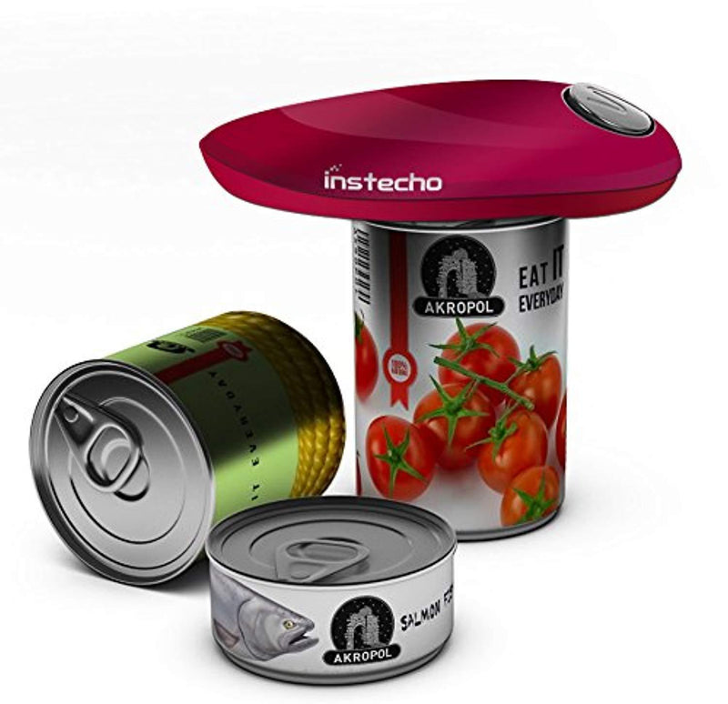 Electric Can Opener, Restaurant can Opener, Smooth Edge Automatic Electric Can Opener! Chef's Best Choice (Classic-Red)