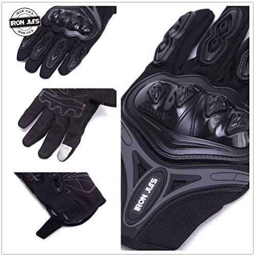 Motorcycle gloves Full finger durable for road racing bike summer spring Powersports support touch screen BLUE-M