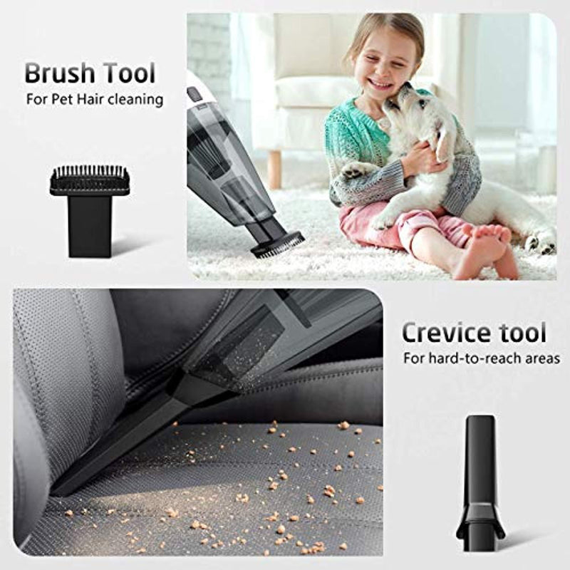 HoLife Handheld Vacuum, Cordless Vacuum Cleaner with Stainless Steel HEPA Filter, Rechargeable 14.8V Li-ion Battery, Quick Charge Tech, Cyclone Suction for Home Pet Hair, Car Cleaning
