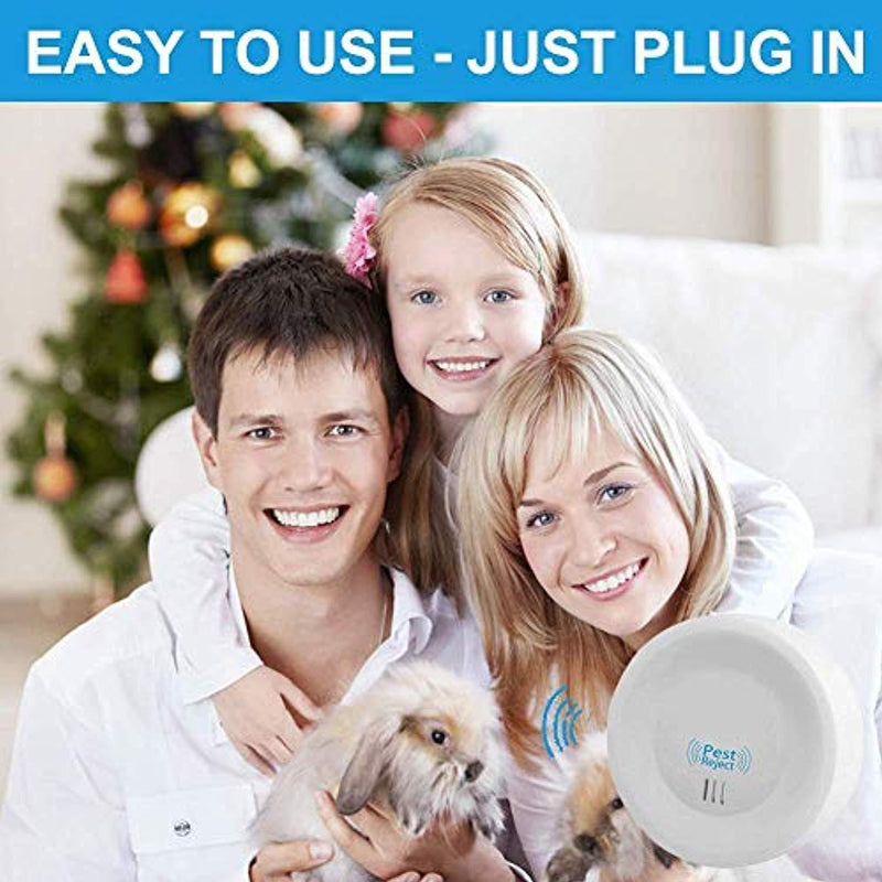 JALL Upgraded Ultrasonic Pest Repeller Plug in Pest Control, Set of 6 Electric Repellent for Cockroach, Mosquito, Mice, Rat, Roach, Spider, Flea, Ant, Fly, Bed Bugs, No Traps Poison & Spraye