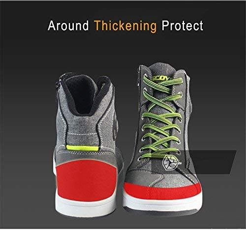 Motorcycle Shoes Men Streetbike Casual Accessories Breathable Protective Gear Powersport Anti-slip Footwear 9.5 One Year Warranty