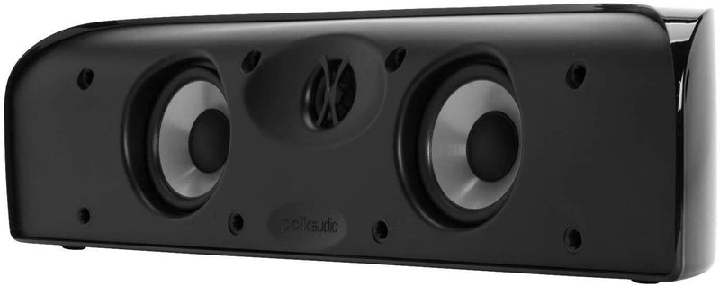 Polk Audio Blackstone TL1 Speaker Center Channel with Time Lens Technology | Compact Size, High Performance, Powerful Bass | Hi-Gloss Blackstone Finish | Create your own Home Entertainment System
