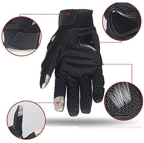 CHCYCLE motorcycle gloves touch screen summer motorbike powersports protective racing gloves (XXL-Red)