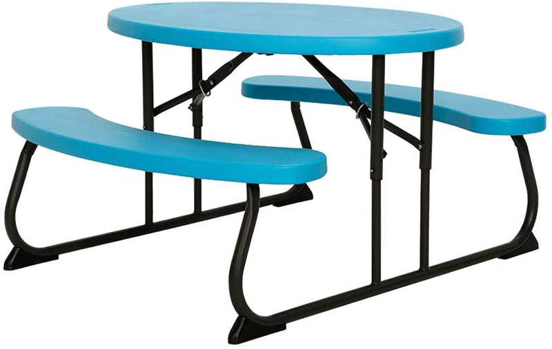 LIFETIME 60229 Kids Oval Picnic Table, Glacier Blue