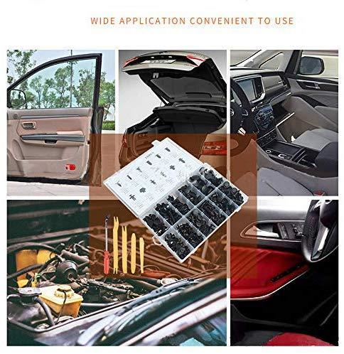 HTOMT 240PCS Bumper Retainer Clips Car Plastic Rivets Fasteners Push Retainer Kit Most Popular Sizes Auto Push Pin Rivets Set -Door Trim Panel Fender Clips for GM Ford Toyota Honda Chrysler (240)