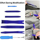 GLISTON 7pcs Trim Removal Tool, Trim Panel Tools – Door Panel Removal/Trim Tool for Car Dash Radio Audio Installer with Instruction Manual