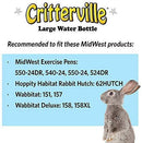 Small Animal Water Bottle | Ideal for Hamsters, Mice, Guinea Pigs & Rabbits
