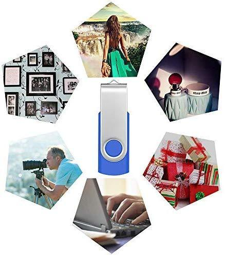 4GB USB Flash Drive Bulk 10 Pack Portable Zip Drives, Portable Thumb Drive 4 GB Swivel USB 2.0 Memory Stick Data Storage, Metal Pen Drive Flash Disk Multi Pack Jump Drives in Black by FEBNISCTE