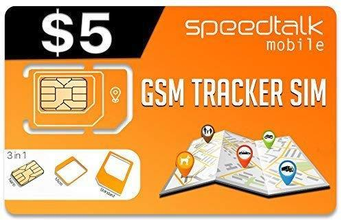 $5 GSM SIM Card Tracker - GPS Pet Kid Senior Spouse Vehicle Tracking Devices - 30 Day Service