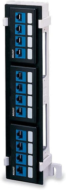 Leviton 49255-Q89 QuickPort 12-Port Patch Block, Mounting Bracket Sold Separately