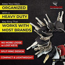 Construction Equipment Master Keys Set-Ignition Key Ring for Heavy Machines, 21 Key Set