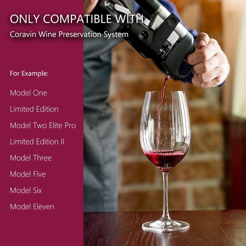 ORDORA 3 Pack Wine Preservation System Capsules Compatible for Coravin Model Two Premium/Model One Advanced/Model Two Elite Wine Preservation System, 100% ultra-pure Argon Gas-Cap Not Included