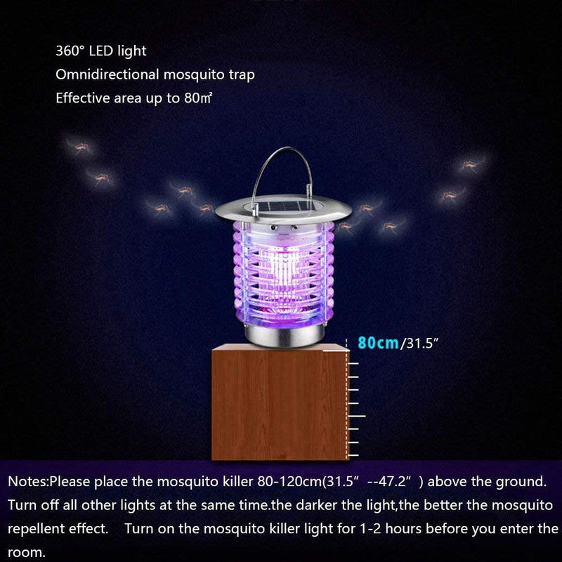 Nozkito Solar Electric Bugs Fly Mosquito Light Lamp, Indoor Outdoor Garden Modern Flashion LED Light Lamps for Residential House Garden Farm Commercial