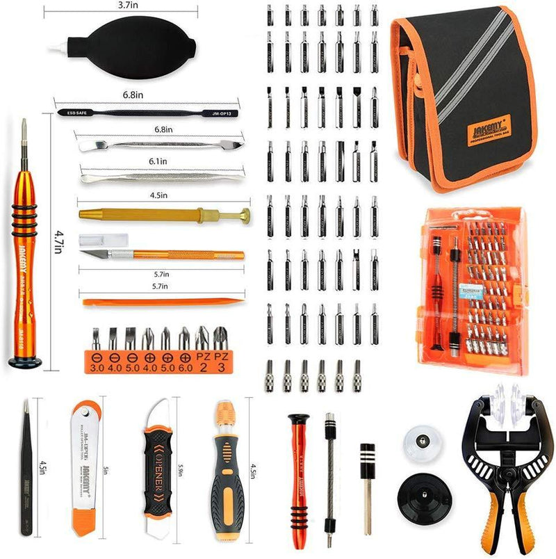 Computer Tool Kits - Professional 17 in 1 Network Cable Maintenance Tools - RJ45/RJ11/8P8C Connectors, LAN/Cat5e/Cat6 Cable Tester, Soldering Iron, Ethernet Stripping/Crimp Pliers Tool kit