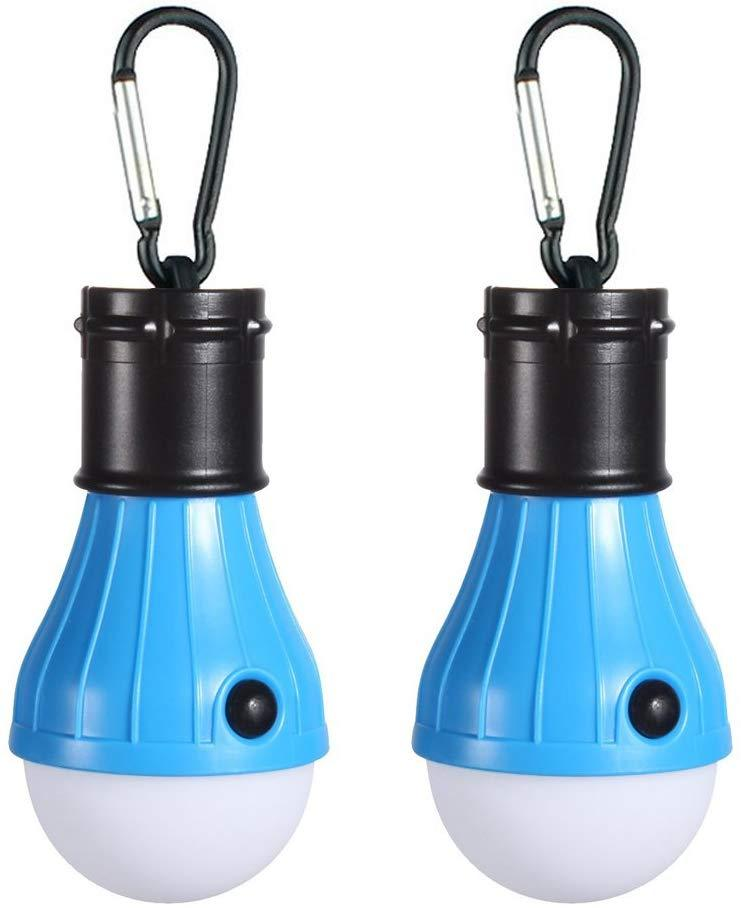 Doukey LED Camping Light [2 Pack or 4 Pack] Portable LED Tent Lantern 4 Modes for Backpacking Camping Hiking Fishing Emergency Light Battery Powered Lamp for Outdoor and Indoor