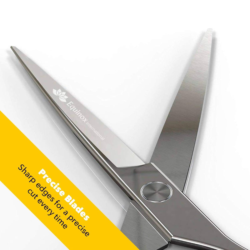 "Equinox International Barber & Salon Styling Series - Barber Hair Cutting Scissors/Shears - 6.0"" Overall Length - Detachable Finger Rest Stainless Steel"