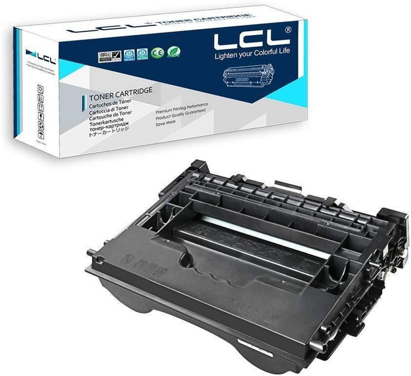 LCL Compatible Toner Cartridge Replacement for HP 37A CF237A M607n M607dn M608x M609dn MFP M631 M632 M633 (1-Pack Black)