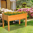 Outsunny 2' x 4' Wooden Elevated Garden Bed Outdoor Raised Planter Box with Legs