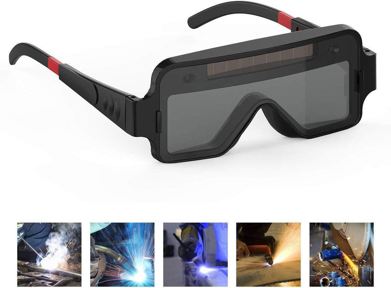 YESWELDER True Color Solar Powered Auto Darkening Welding Goggles, 2 Sensors Welder Glasses Welding Mask for TIG MIG MMA Plasma