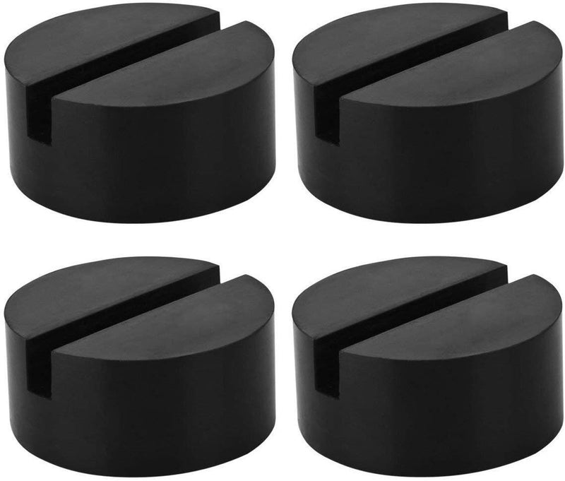 YZ-Room 4 Pack Universal Jack Pad Slotted Rubber Jack Pad Medium Size - Frame Rail Protector Puck/Pad Keeps Pinch Weld, Paint and Metal Safe (4Pack)