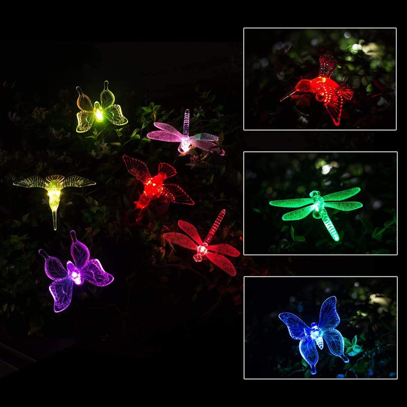 EPIC GADGET Solar Garden Stake Lights,3 Pack Solar Garden Lights Outdoor,Multi-Color Changing LED Garden Lights,Solar Butterfly Lights Outdoor for Pathway,Garden,Lawn,Patio,Driveway