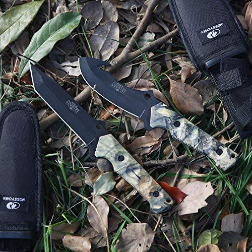 Mossy Oak Hunting Field Dressing Kit - Fixed Blade Full Tang Handle Portable Butcher Game Processor Set