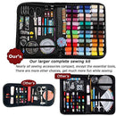 Sewing Kits for Adults Travel Sewing Kit, SAKEYR 183 Premium Sewing Supplies with Buttons/Needle/38 XL Thread/Scissors etc, Large Basic Sewing Kit for College Student/Kids/Beginners/Men/Women