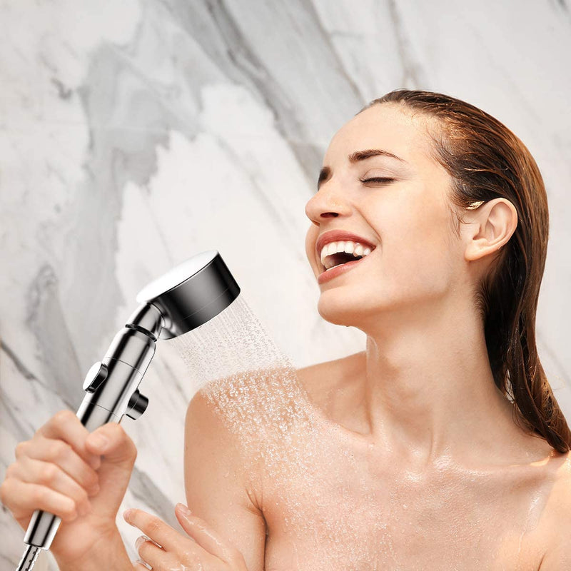 VOLUEX Filtered Shower Head with Handheld Hose - High Pressure 3 Spray Settings Showerhead with Cartridge Remove Harmful Substances with ON/OFF Switch Water Saving Shower