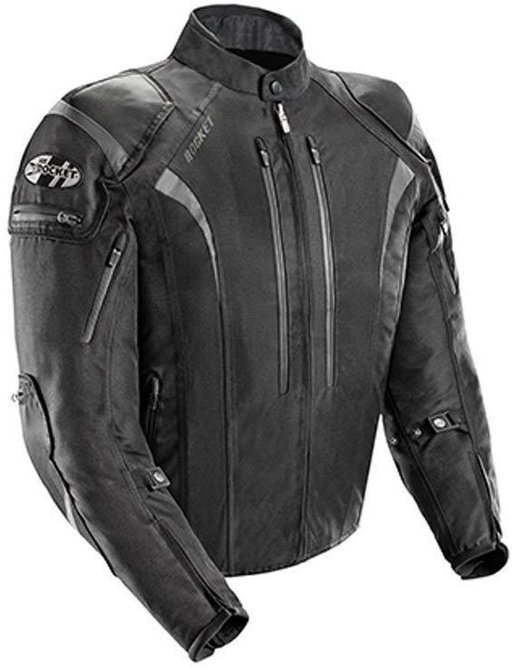 Joe Rocket Atomic Men's 5.0 Textile Motorcycle Jacket (Black, X-Large)