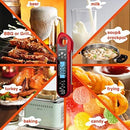 A ALPS Waterproof Digital Instant Read Meat Thermometer - Ultra Fast Thermometer with Backlight & Calibration for Kitchen, Outdoor Cooking, Grill BBQ, and Liquids(Black)