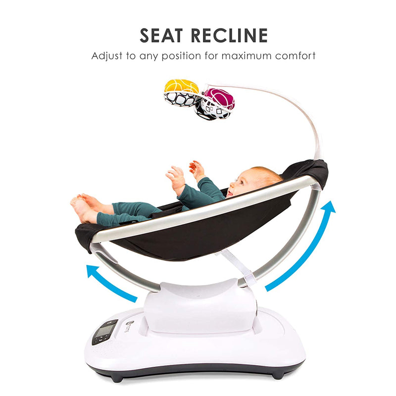 4moms mamaRoo 4 Baby Swing | Bluetooth Baby Rocker with 5 Unique Motions | Soft, Plush Fabric | Multi Plush