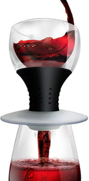 Andre Lorent Epicureanist Trilux Wine Aerator, Clear/Black, 8-Oz.