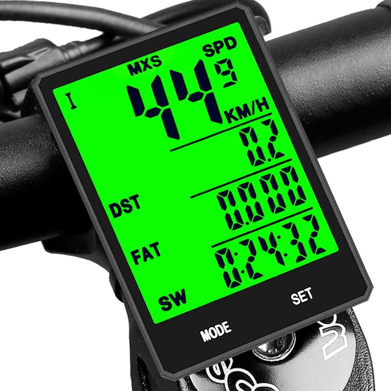SY Bicycle Speedometer and Odometer Wireless Waterproof Cycle Bike Computer with LCD Display & Multi-Functions by YS