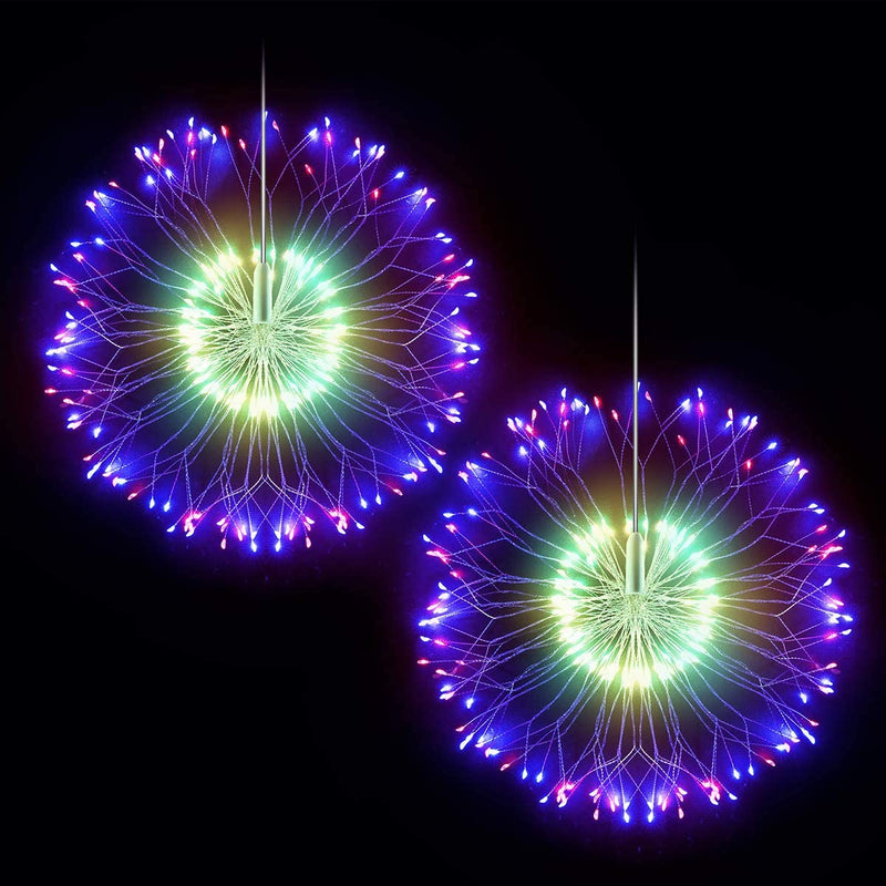 EPIC GADGET Firework Lights Copper Wire LED Lights Battery Operated Fairy Lights with Remote, 8 Modes Starburst Lights, Decorative Hanging Lights for Patio Party