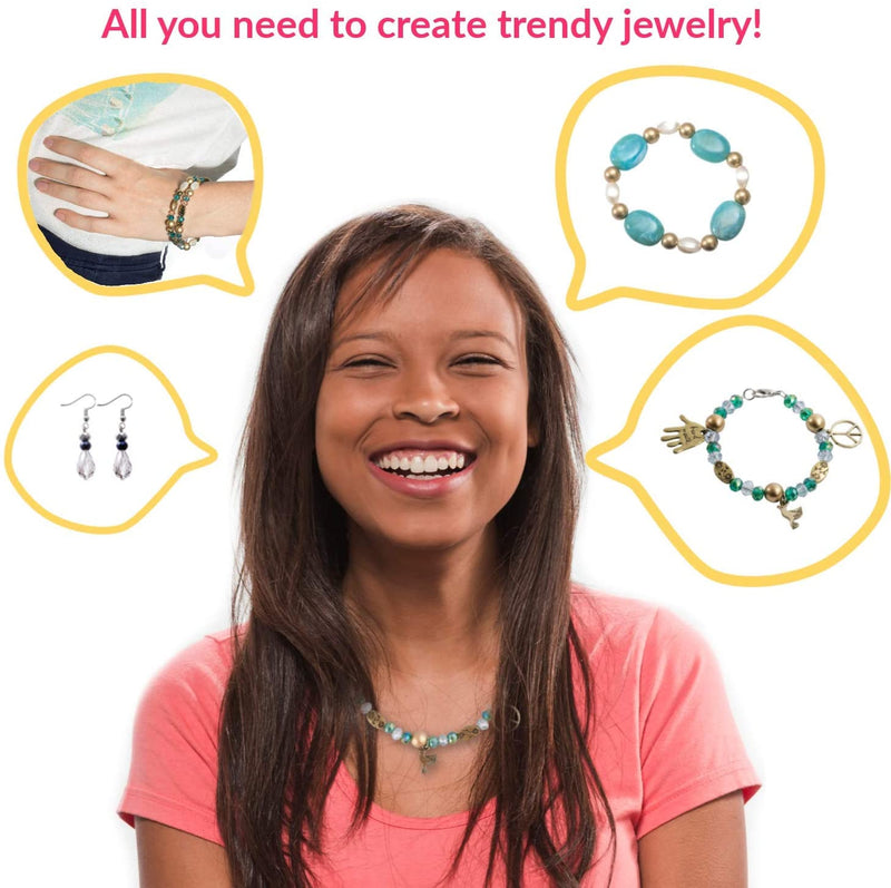 Gemybeads Jewelry Making Supplies Includes Clear Instructions, Charms, Pliers, Findings, Beads and More, Crafts for Girls and Adults, Great Gift for Teens and Women