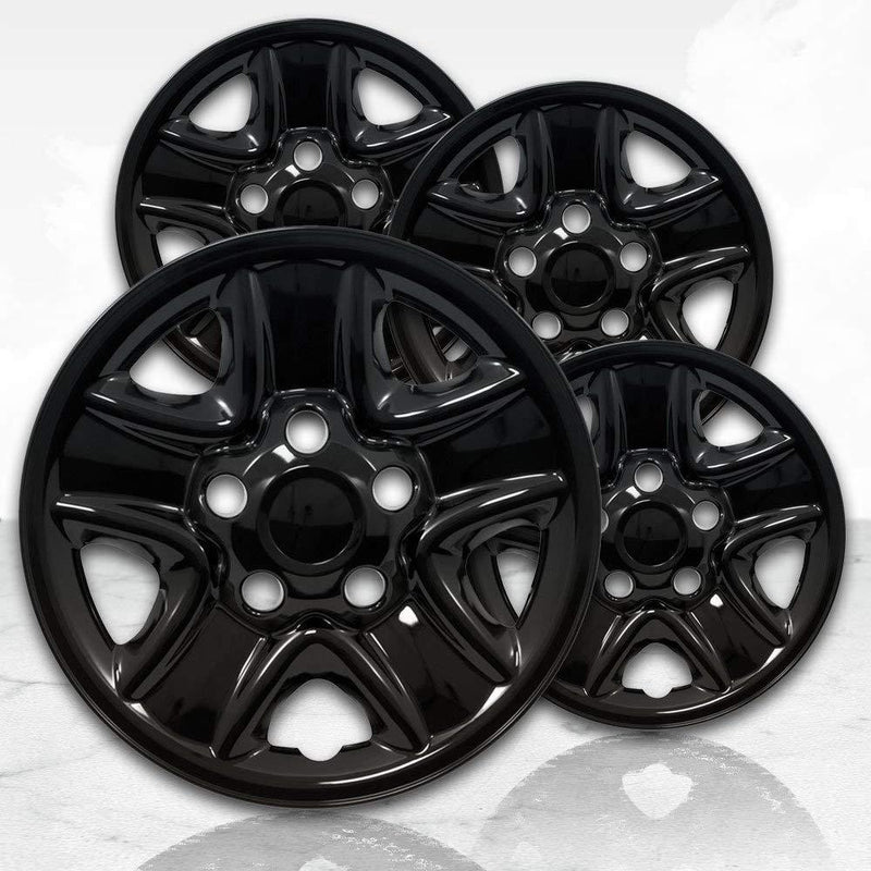 "Upgrade Your Auto 18"" Gloss Black Wheel Skins (Set of 4) for 2007-2017 Toyota Tundra - 69514"