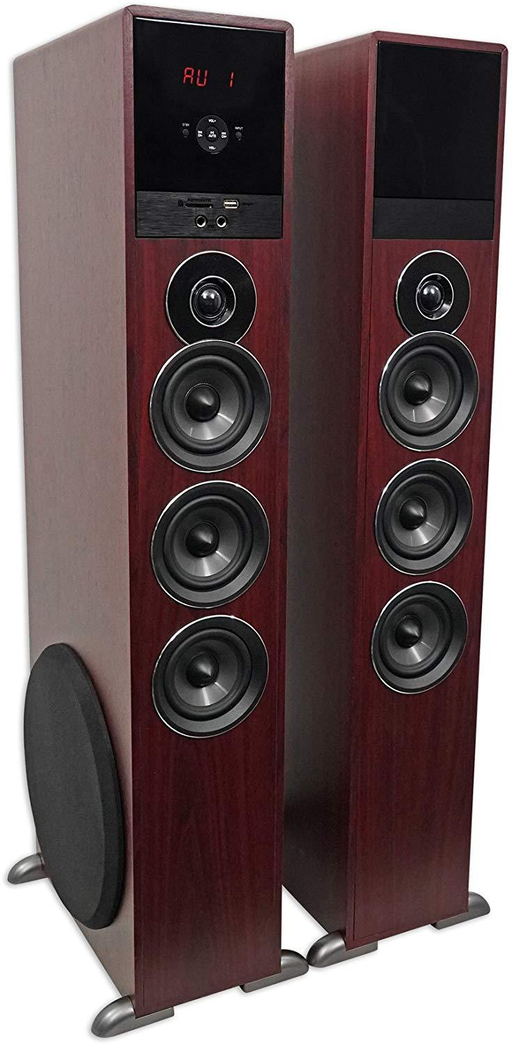 "Rockville TM150C Bluetooth Home Theater Tower Speaker System (2) 10"" Subwoofers!"