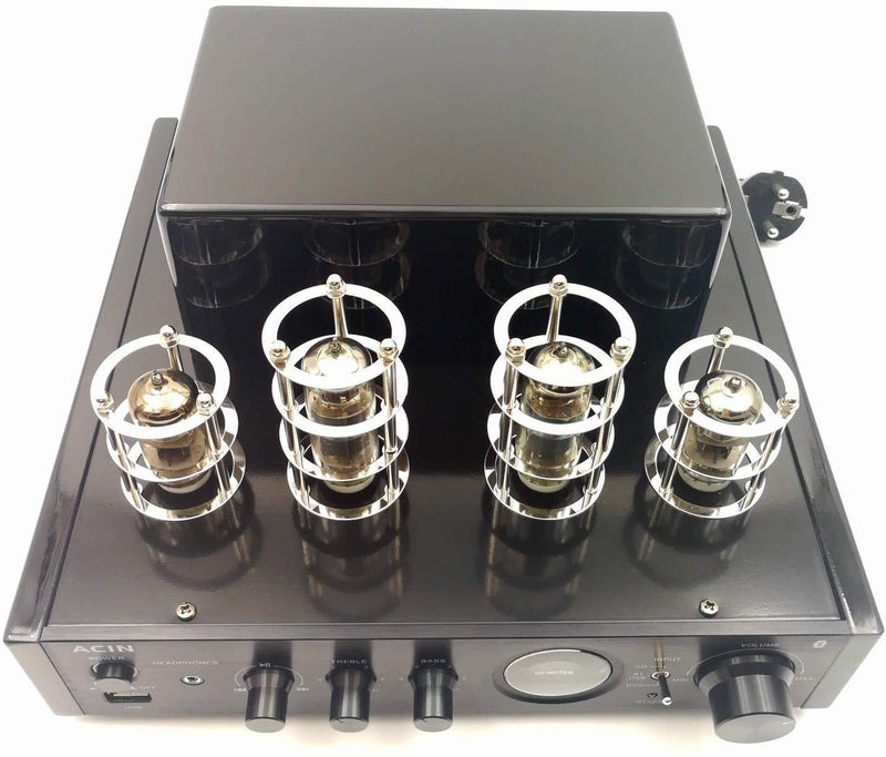 Stereo Hybrid Tube Amplifier - ACIN Class AB 25W Bluetooth Integrated Power Amplifier with Headphone Out, USB