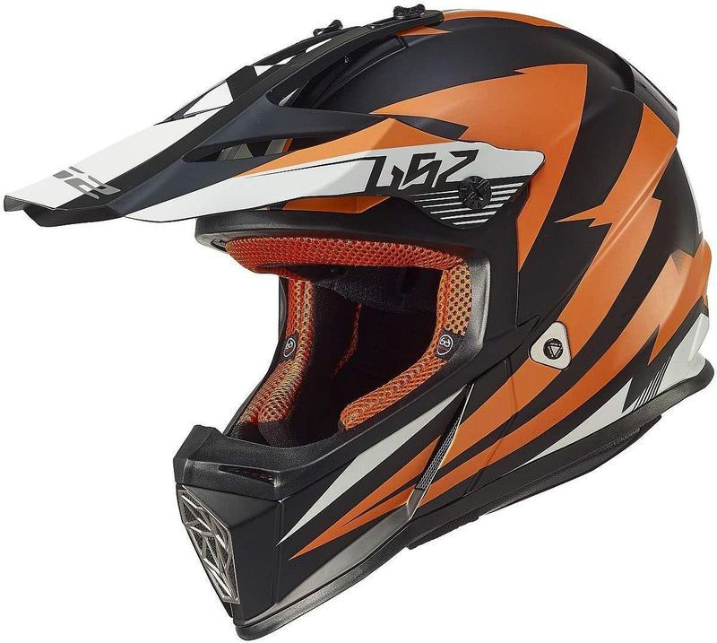 LS2 Helmets Motorcycle & Powersports Helmet's Off-Road Fast Mini V2 (Strong Red Blue, Medium)